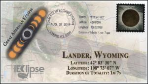 17-227, 2017, Total Solar Eclipse, Lander WY, Event Cover, Pictorial Cancel,