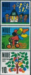 Niue 1975 SG193-195 Christmas set MNH