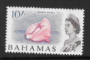 BAHAMAS SG260 1965 10/- DEFINITIVE MTD MINT
