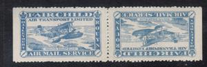 Canada #CL12a Very Fine Mint Full Original Gum Hinged Tete Beche Pair