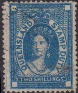 Australia - Queensland 1872-1873 SC AR21 Used