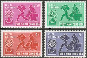 Viet Nam Sc#132-135 World Refugee Year MH