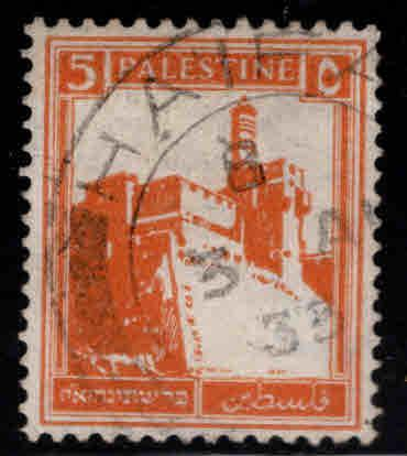 Palestine Scott 67 used Citadel stamp from 1927-1942