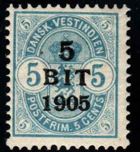 Danish West Indies  - 41 - Unused - SCV-10.00