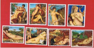 Paraguay #1708a-g #1709  VF used  Paintings  Free S/H