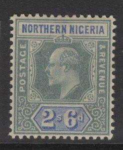 NORTHERN NIGERIA SG17 1902 2/6 GREEN & ULTRAMARINE MTD MINT