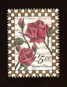 UN N.Y. 753 $5  Rose MNH