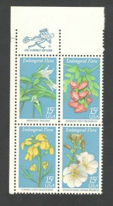 1783-86 Endangered Flora Zip Block Mint/nh FREE SHIPPING