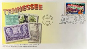 Mystic 3737 Greetings from America Tennessee Stamps from the State