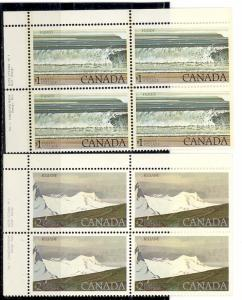 Canada #726-27  Plate Blocks VF NH   - Lakeshore Philatelics
