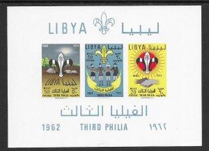 Libya 225 Scout MNH S/S, vf. 2022 CV $ 20.00