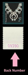 US 3758B American Design Navajo Jewelry 2c coil single back number MNH 2011