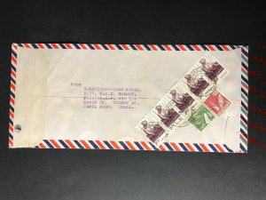 India Registered Cover to Finland City Cancel (1980s-1990s)