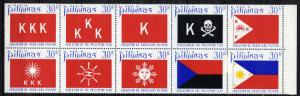 Philippines 1126-1135, folded MNH, Development of Philippine Flag, 1972