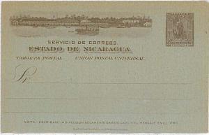 BOATS : POSTAL STATIONERY - NICARAGUA