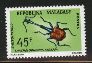 Madagascar Malagasy Scott 384  MNH*  1966 insect stamp