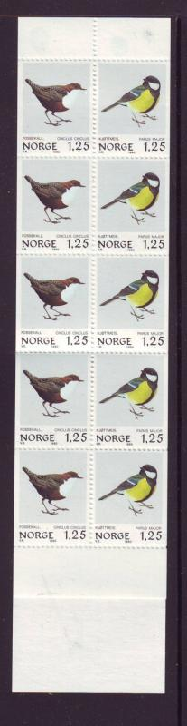 Norway Sc 760a-62a 1980 bird stamp booklets mint NH