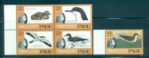 Palau - Sc# 66a-C5. 1985 Birds, Audubon. MNH. $5.60.