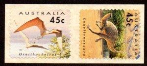 AUSTRALIA 1348-9 MNH SCV $4.20 BIN $2.50 DINOSAURS