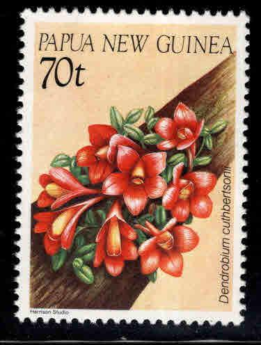 PNG Papua New Guinea Scott 654 MNH** Orchid stamp