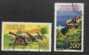 COMORO ISLANDS, C18-C19, USED, OLD GUN BATTERY