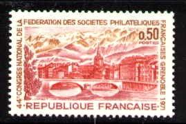 Grenoble, French Philatelic Societies, France SC#1308 MNH