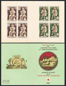 France B409-B410a booklet,MNH.Michel 1607-1608 MH. Ivory flute,Violin players.