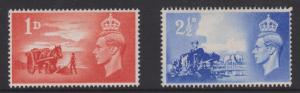 Great Britain #269-270 MLH CV$0.50 Channel Islands Liberation