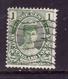 Newfoundland-Sc#104-used 1c yellow green-Queen Mary-1911-