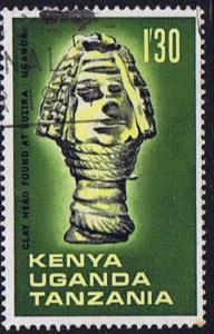 Kenya Tangananyika Tanzania SG 241 used 1966 Archaeological Relics 1s 30