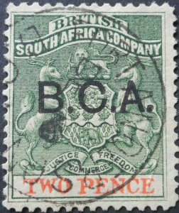 Nyasaland/BCA 1891 2d with FORT ANDERSON Month Day postmark