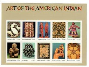 3873 (a-j) Art Of The American Indians FULL SHEET MNH