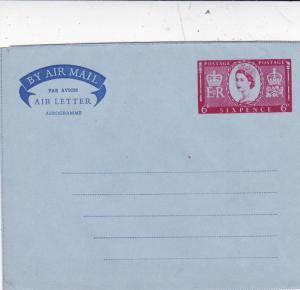 GB 6d Coronation Air letter/Aerogramme Unused VGC