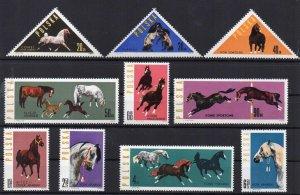 Poland 1963 MNH Stamps Scott 1188-1197 Polish Horse Breeding