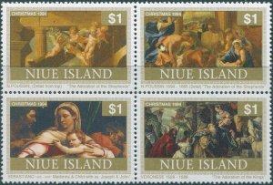 Niue 1994 SG787a Christmas block MNH