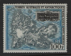 FAST C21 MNH MAP OF KERGUELEN ISLAND 1969