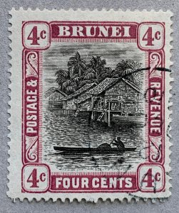 Brunei 1907 4c reddish purple, 12 DEC 1910 cds. Scott #19a, CV $70.00.  SG 26a