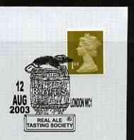 Postmark - Great Britain 2003 cover for Real Ale Tasting ...