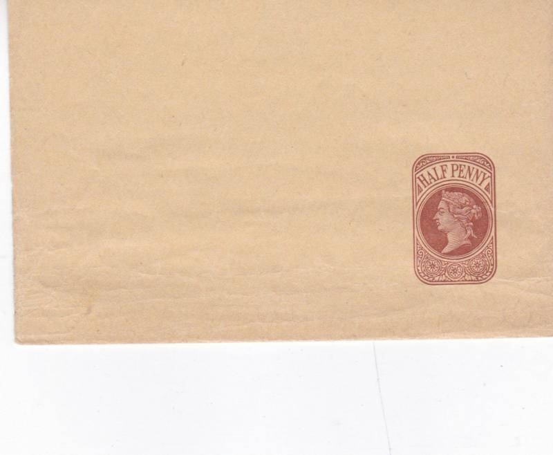 Queen Victoria 1/2d Prepaid Envelope Unused VGC
