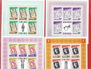 St.Lucia #478a-481a  MNH OG  Sheets of 5  Older Stamps