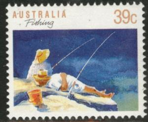 AUSTRALIA Scott 1109 MNH** 1989 39c Fishing stamp