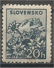 SLOVAKIA, 1940, MH 20h, Mountains, Scott 47