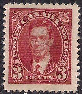 Canada 1937 - 38 KGV1 3ct Scarlet Unused No Gum SG 359 ( C1073 )