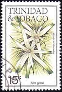 Trinidad & Tobago # 394 used ~ 15¢ Flowers - Star Grass