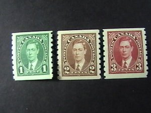 CANADA # 238-240--MINT NEVER/HINGED----COMPLETE SET COIL SINGLES----1937