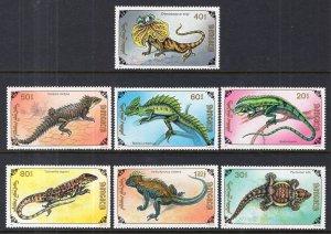 Mongolia 2005-2011 Reptiles MNH VF