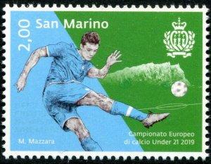 HERRICKSTAMP NEW ISSUES SAN MARINO Sc.# 2047 European Soccer Under 21 Champ 2019