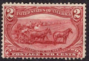 US Stamp #286 MINT NO GUM SCV $25.00