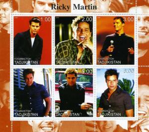 Turkmenistan 2000 Ricky Martin Sheet Perforated  mnh.vf