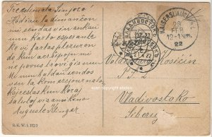 to Primorye Siberian Legion 1922 Vladivostok BЛАДИВОСТОKЪ in Esperanto